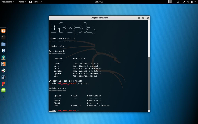 Utopia Linux Post Exploitation Framework